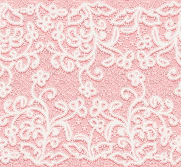 papier peint seamless rose et motif de dentelle blanche pixers nous vivons pour changer. Black Bedroom Furniture Sets. Home Design Ideas