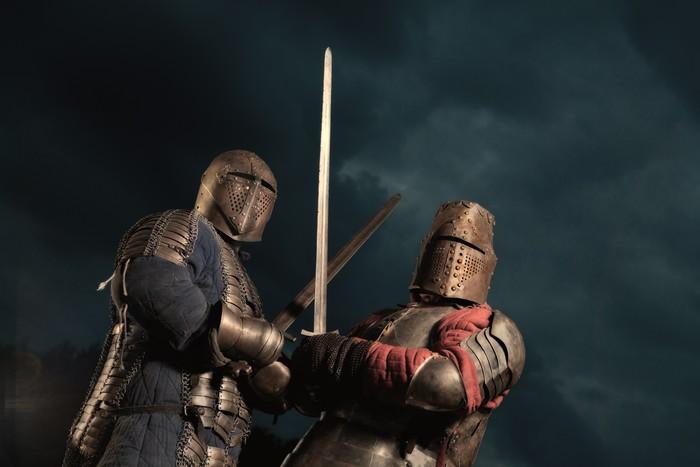 Vinylová Tapeta Squad ze dvou středověkých rytířů - Život