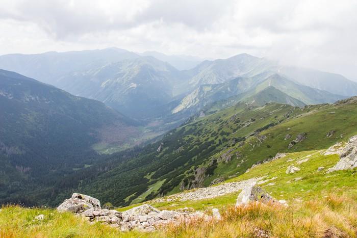 Vinylová Tapeta Velmi pěkný výhled na horách - Hory
