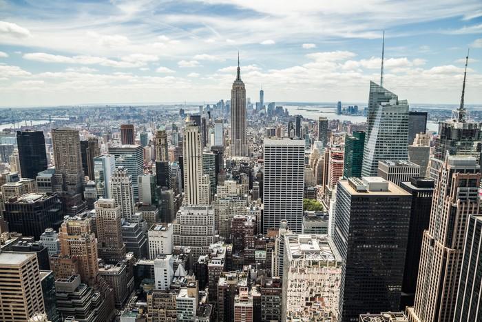 fototapete new york city manhattan midtown geb ude skyline blick pixers wir leben um zu. Black Bedroom Furniture Sets. Home Design Ideas