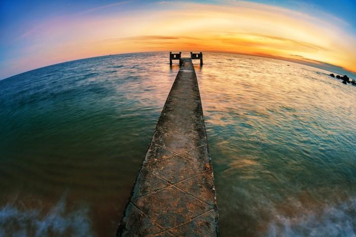 Vinylová Tapeta Západ slunce nad mořem - Nebe