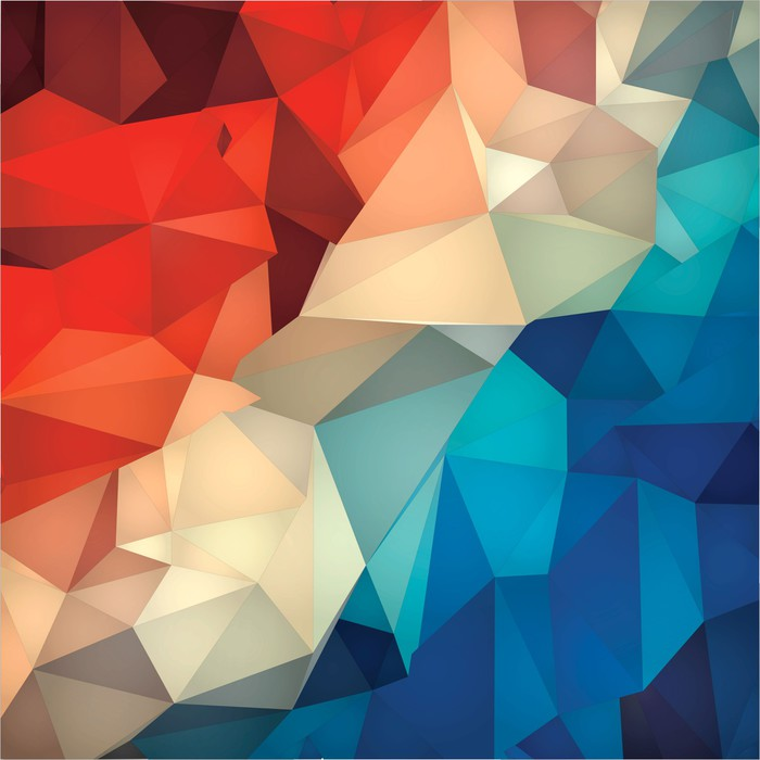 Abstract Geometric Low Poly Background Poster