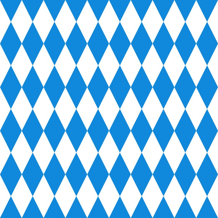 Oktoberfest Background Bavarian Flag Pattern Wall Mural