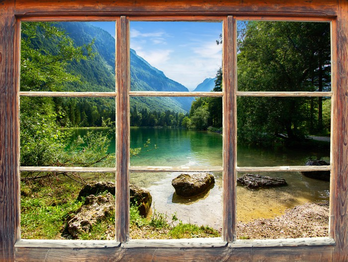 Fototapete Fensterblick Bluntautal • Pixers®