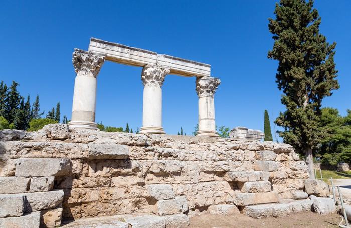 Vinylová Tapeta Temple E, Starověký Korint, Řecko - Evropa