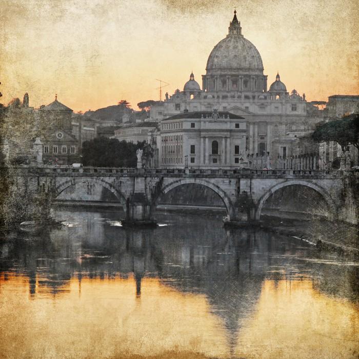 Vinylová Tapeta Bazilika San Pietro. Řím. retro stylu obrázek - Témata