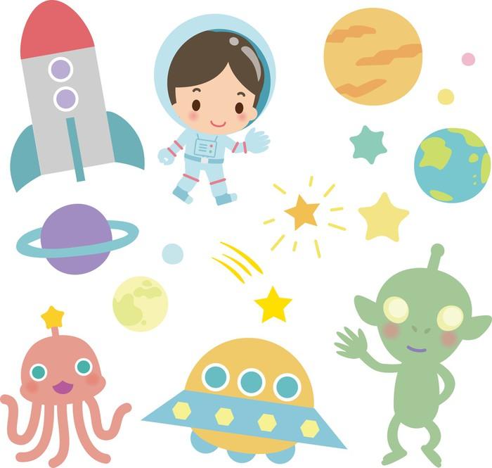 Plakát 宇宙 飛行 士 と 宇宙 人 - Meziplanetární prostor