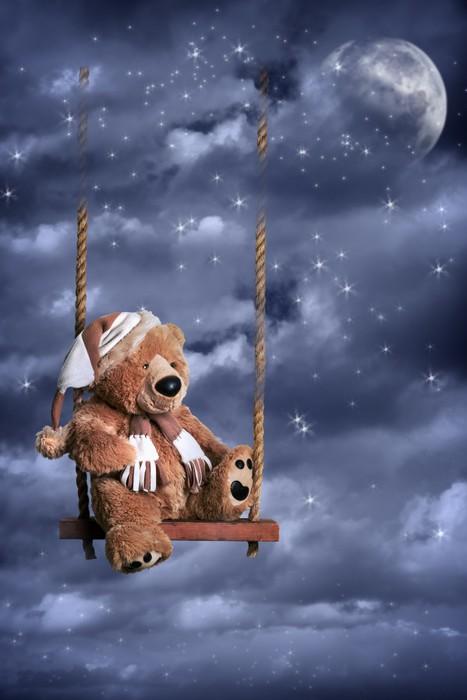Vinylová Tapeta Teddy Bear Na noční obloze - Jiné pocity