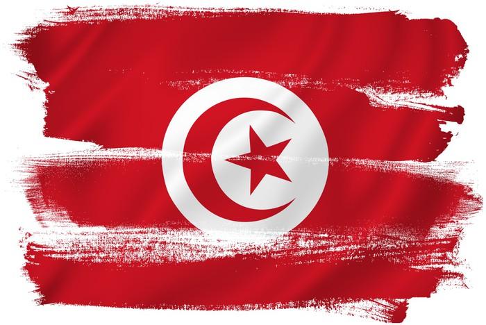 Vinylová fototapeta Tunisko vlajka - Vinylová fototapeta