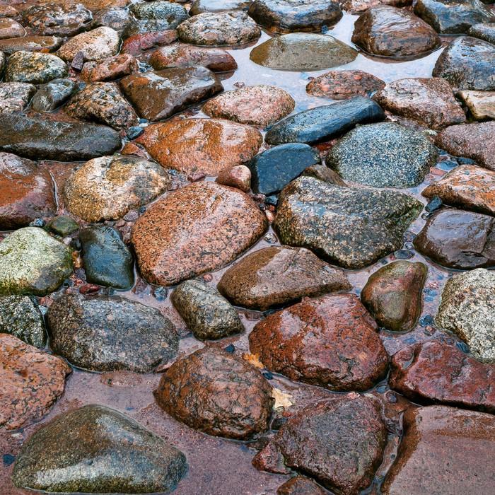Vinylová Tapeta Silnice z kamene po dešti - Struktury