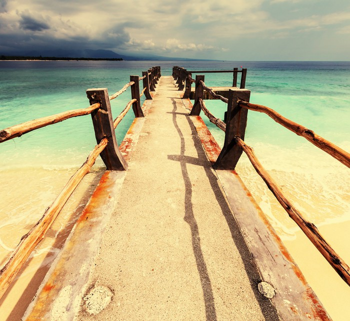 Vinylová Tapeta Pláž na Gili - Prázdniny