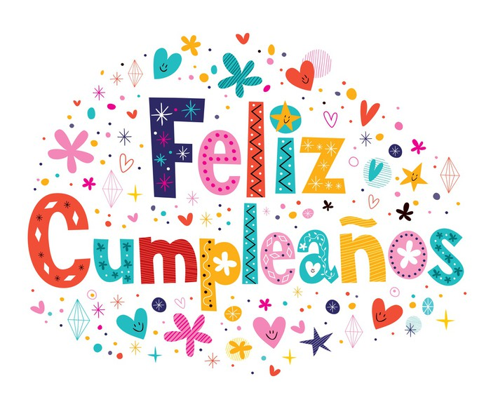 Feliz Cumpleanos Happy Birthday In Spanish Text Sticker