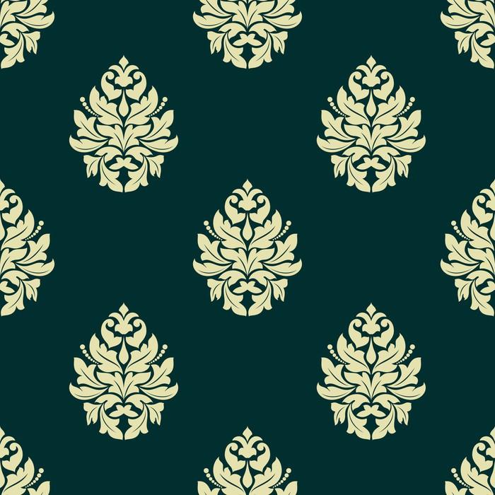 Vinylová Tapeta Květinová světle zelená damaškové bezproblémové vzor - Pozadí