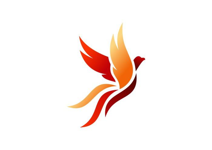 bird logo phoenix flying hawk eagle wings icon symbol wall mural rh pixers us phoenix bird logo design phoenix bird logo hd
