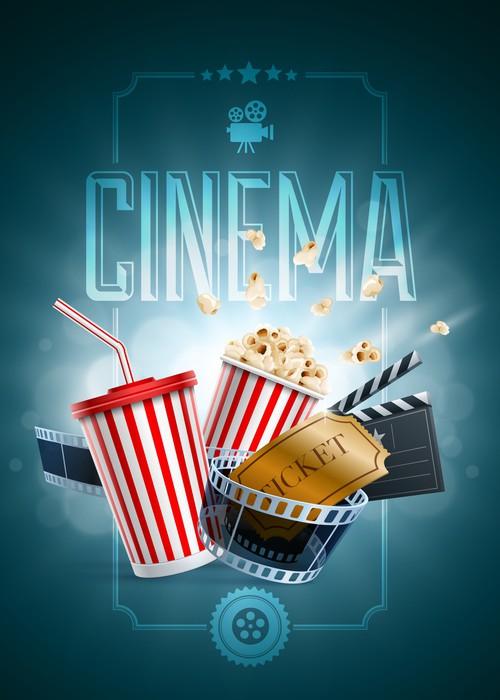 Fensteraufkleber Cinema Poster Design-Vorlage • Pixers® - Wir leben ...