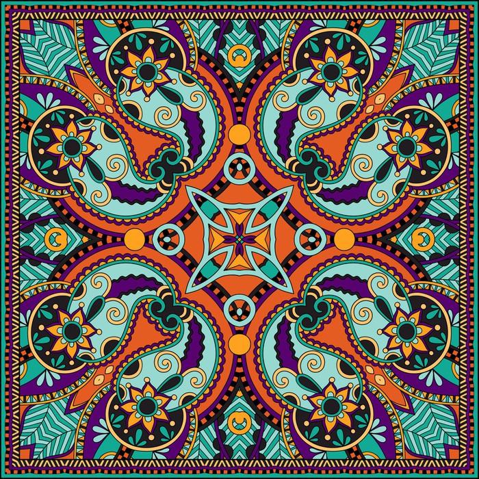 papier peint traditionnel ornement floral paisley bandana pixers nous vivons pour changer. Black Bedroom Furniture Sets. Home Design Ideas