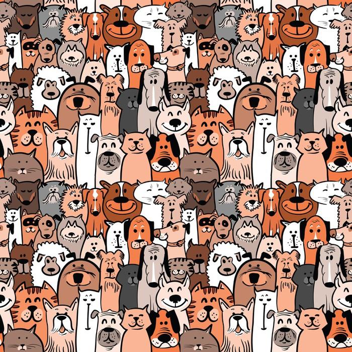 Nálepka Pixerstick Psi a kočky bezproblémovou - Savci
