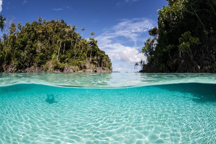 Vinylová Tapeta Tropical Islands a Mělká voda - Asie