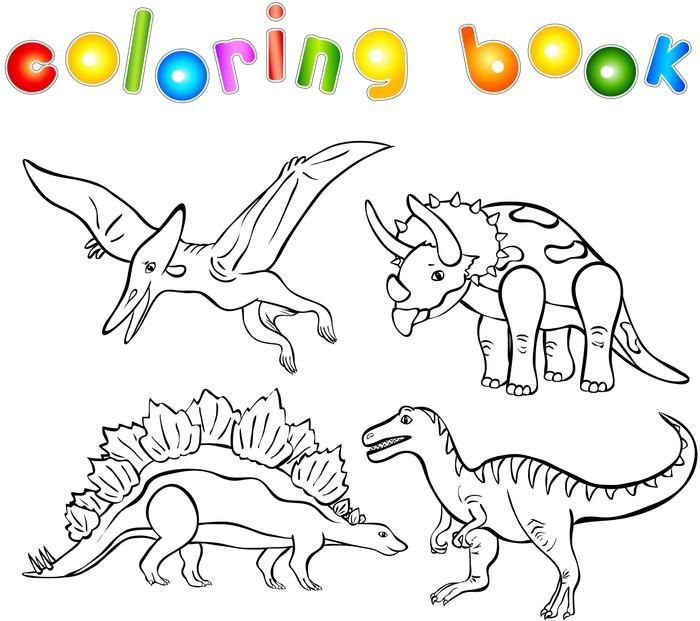 Vinilo para Pared Libro para colorear de dinosaurios • Pixers ...