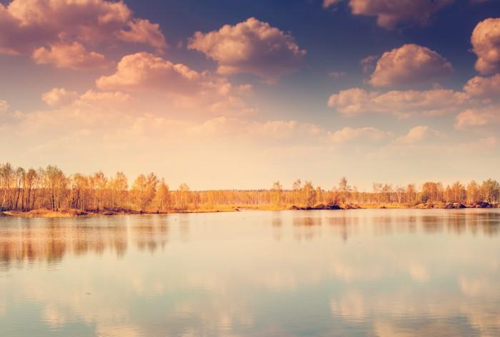 Vinylová Tapeta Krásný podzimní krajinu, lesů a rybníků - Evropa