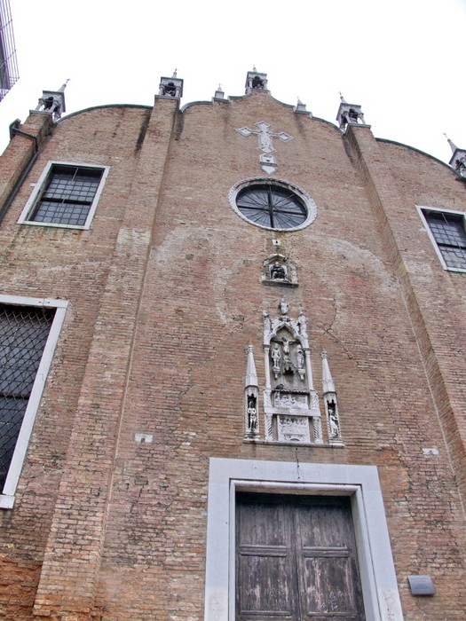 Vinylová Tapeta Fasádní d'église en brique rouge, Venise, Italie - Evropská města