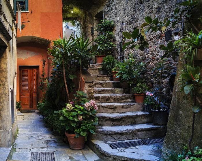 Vinylová Tapeta Cinque Terre, Vernazza - Itálie - Evropa