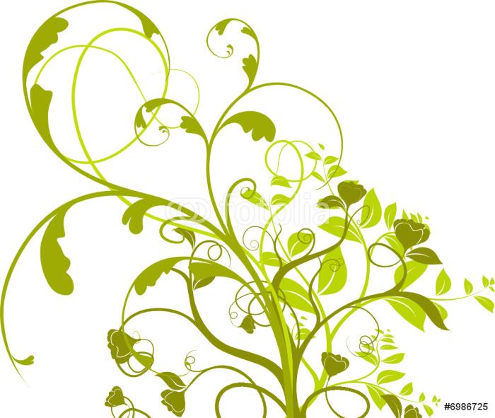 papier peint vecteur s rie plante fleurs isol sur fond blanc pixers nous vivons pour. Black Bedroom Furniture Sets. Home Design Ideas