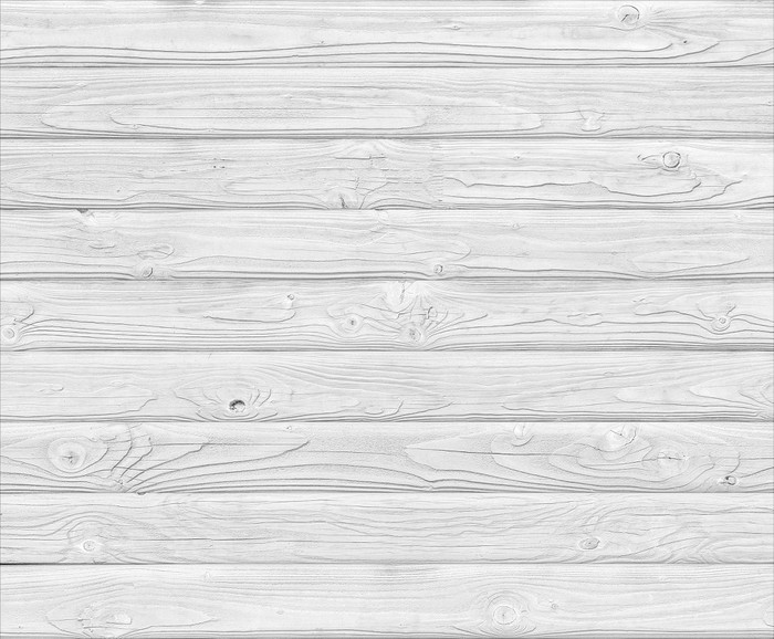 White Wood Planks Background Vinyl Wall Mural   Themes