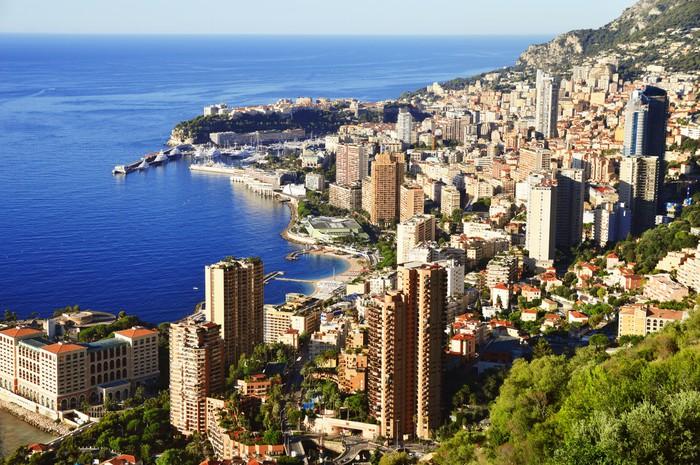 Vinylová Tapeta Pohled na město z Monaka. Francouzské riviéře - Evropa