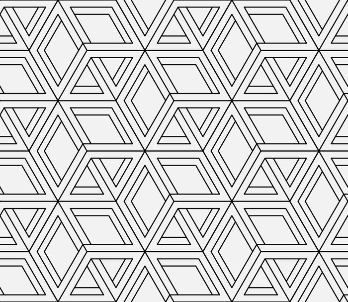 Seamless Geometric Pattern In Op Art Design Vector Art