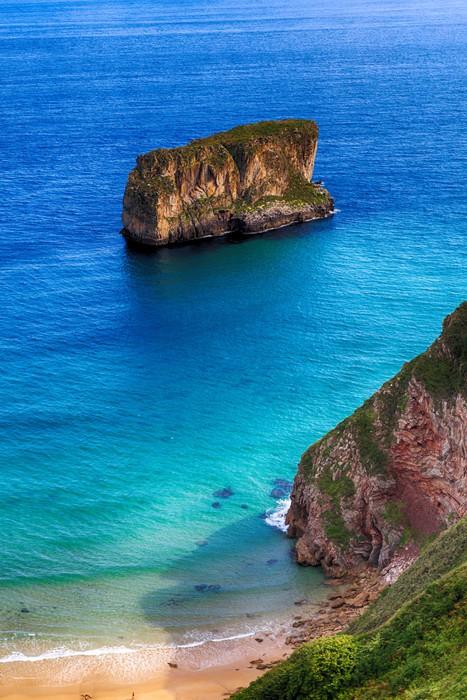 Vinylová Tapeta Krásná krajina pláž oceán v Asturias, Španělsko - Evropa