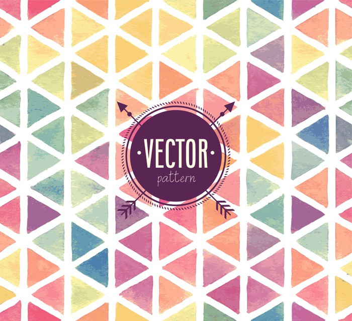 Vector watercolor seamless pattern wall mural pixers for Mural vector
