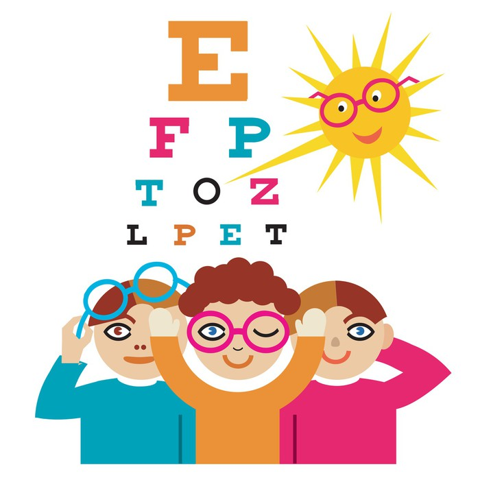 14e515a64ade Children at the eye doctor. Sticker • Pixers® • We live to change