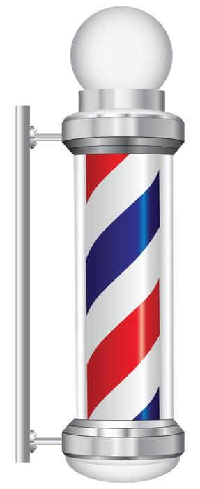 Fototapete Symbol Barbier Lampe • Pixers® - Wir leben, um zu verändern