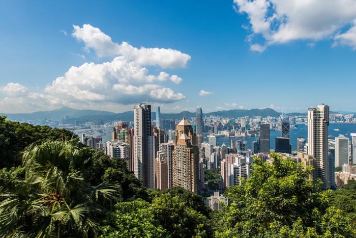 Vinylová Tapeta Pohled na Hong Kong v průběhu dne - Jiné