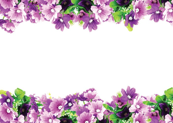 Vinylová Tapeta Blahopřání s růžemi akvarel pozvánce - Květiny