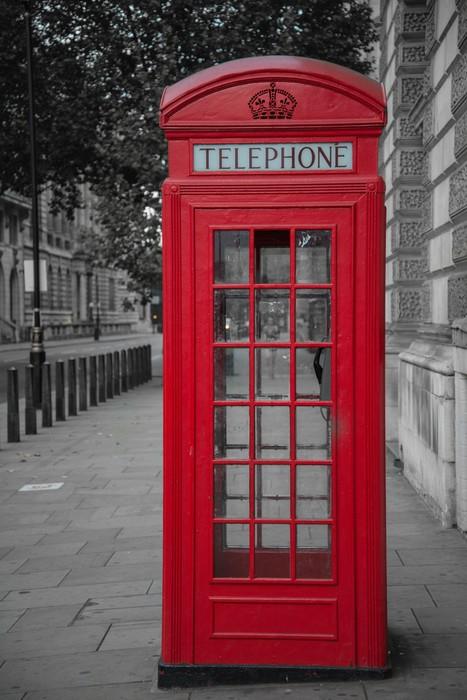 Carta da parati cabina telefonica a londra pixers for Cabina telefonica inglese arredamento
