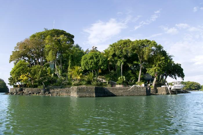 Vinylová Tapeta Bungalov na ostrovech jezera Nicaragua (nebo Lake Cocibolka) - Amerika