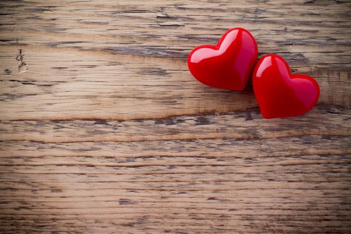 Vinylová Tapeta Valentines Day pozadí s Hearts - Mezinárodní svátky