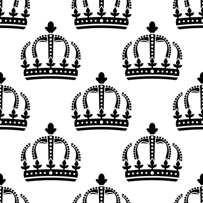 Vinylová Tapeta Bezešvé vzor ročníku královských korun - Úspěch