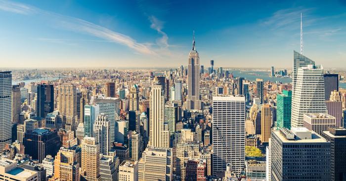 Vinylová Tapeta Letecký pohled na Manhattan - Témata