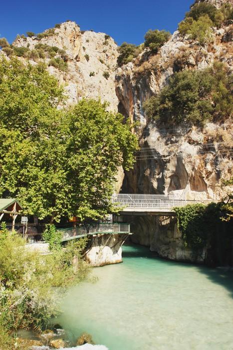 Vinylová Tapeta Pohled z mostu u Saklikent kaňonu, Turecko - Střední Východ