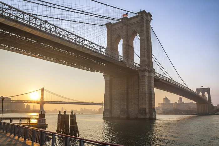 Tableau sur toile le pont de brooklyn new york usa - Toile pont de brooklyn ...