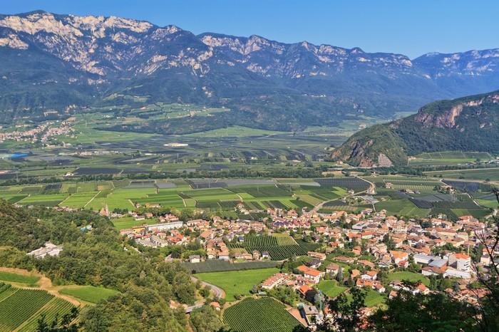 Vinylová fototapeta Adige Valley - obec Ora - Vinylová fototapeta