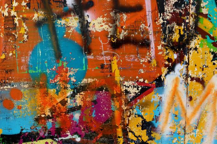 Papier peint graffiti sur un mur d tail d 39 un graffiti for Papier peint sur un seul mur