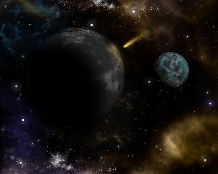 Vinyltapete 3D-Weltraum-Hintergrund - Weltall