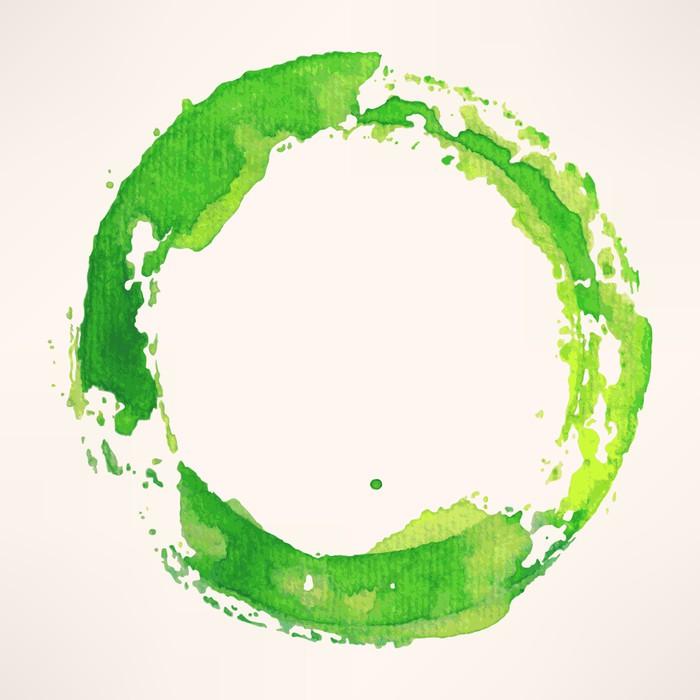 Fototapete Aquarell Runde Rahmen - 3 • Pixers® - Wir leben, um zu ...