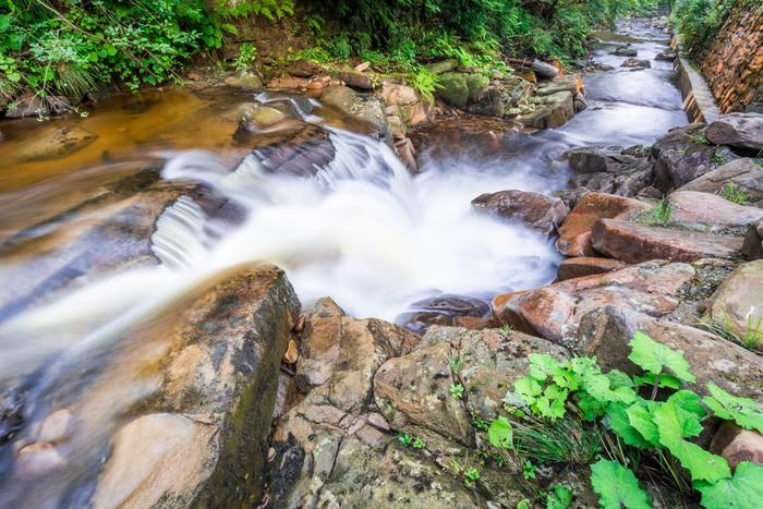 Vinylová Tapeta Řítí horského potoka v létě - Voda