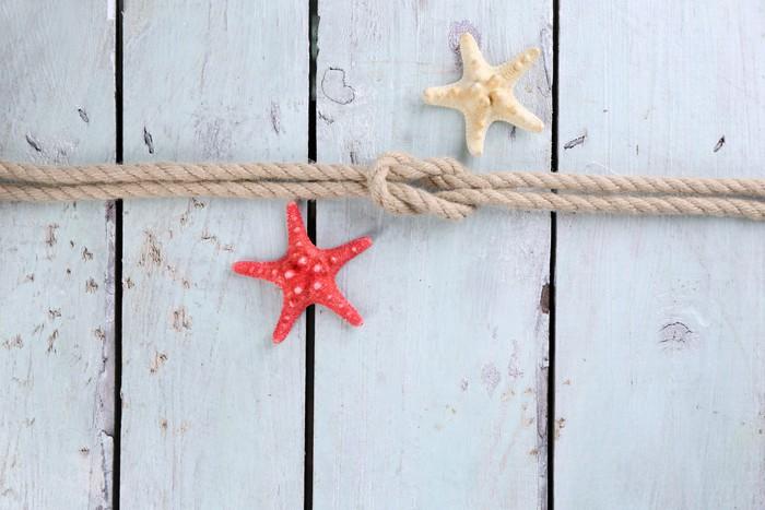 Nálepka Pixerstick Mořské uzel na dřevěném pozadí - Doplňky a věci