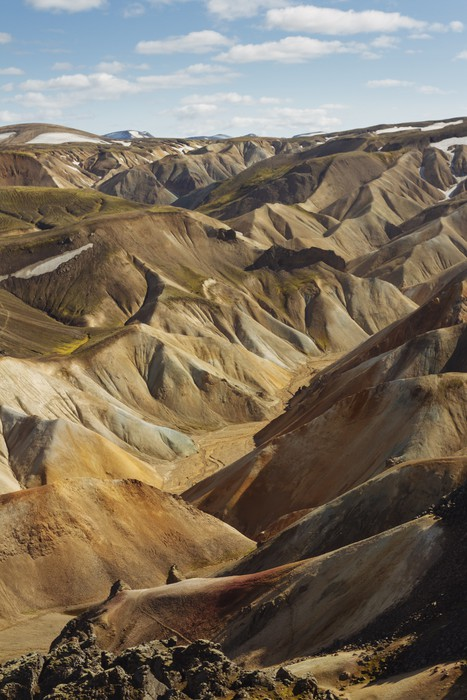 Vinylová Tapeta Barevné hory na jihu Islandu. landmannalaugar - Hory